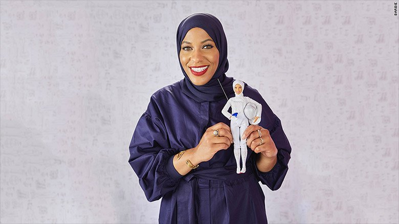 For the first time ever, Barbie will wear a hijab.  Mattel says the latest doll in its 'Shero' collection will be modeled after Olympic fencer Ibtihaj Muhammad. https://t.co/ElvXA3oV2l