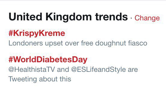 I'm not sure if this is the best way to celebrate #WorldDiabetesDay tbh #KrispyKreme https://t.co/N8G9R7zxX1