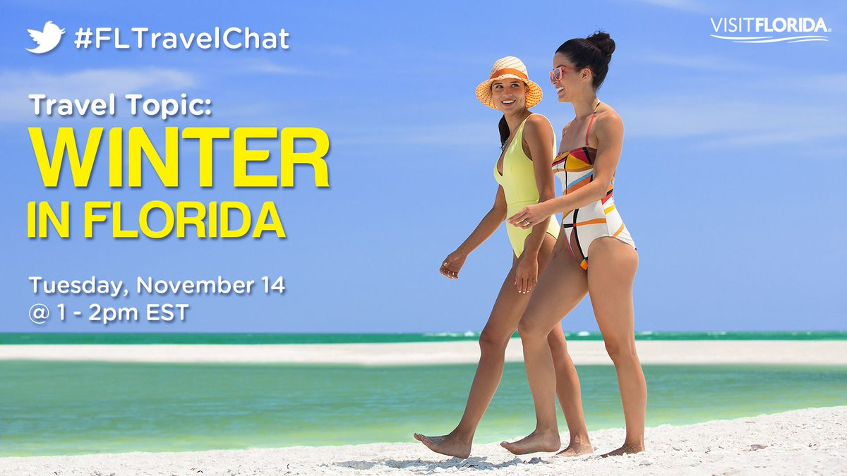 Warm up in one hour with #FLTravelChat!...