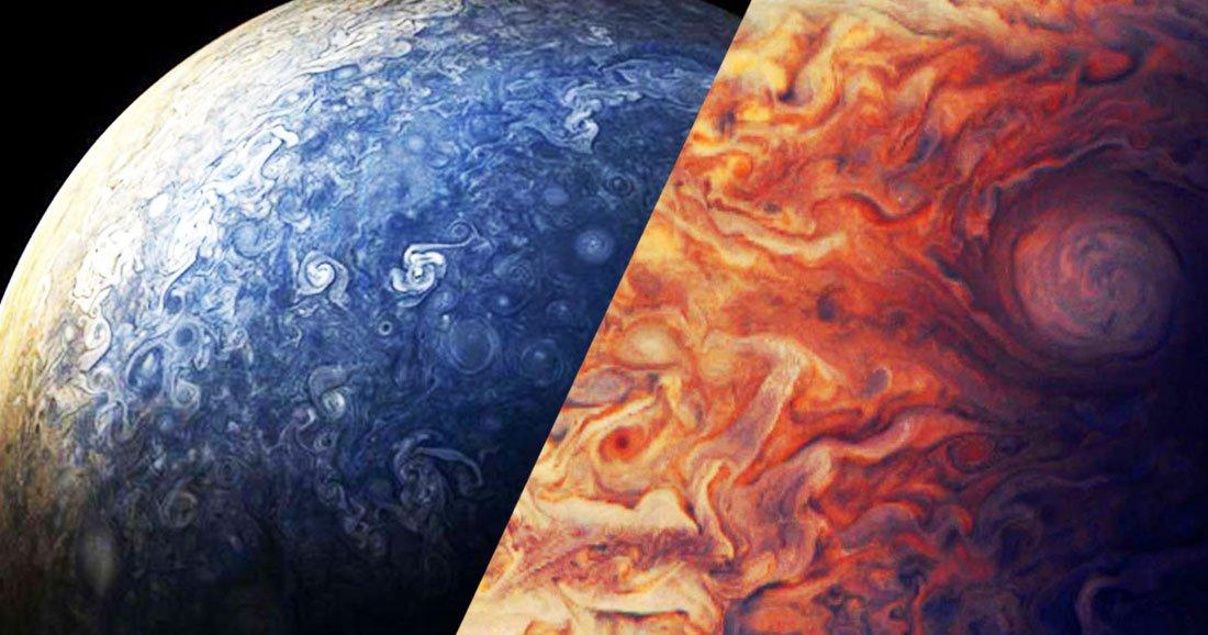 La sonde Juno nous offre de nouveaux clichés époustouflants de Jupiter  https://t.co/fkMVqD3e3o