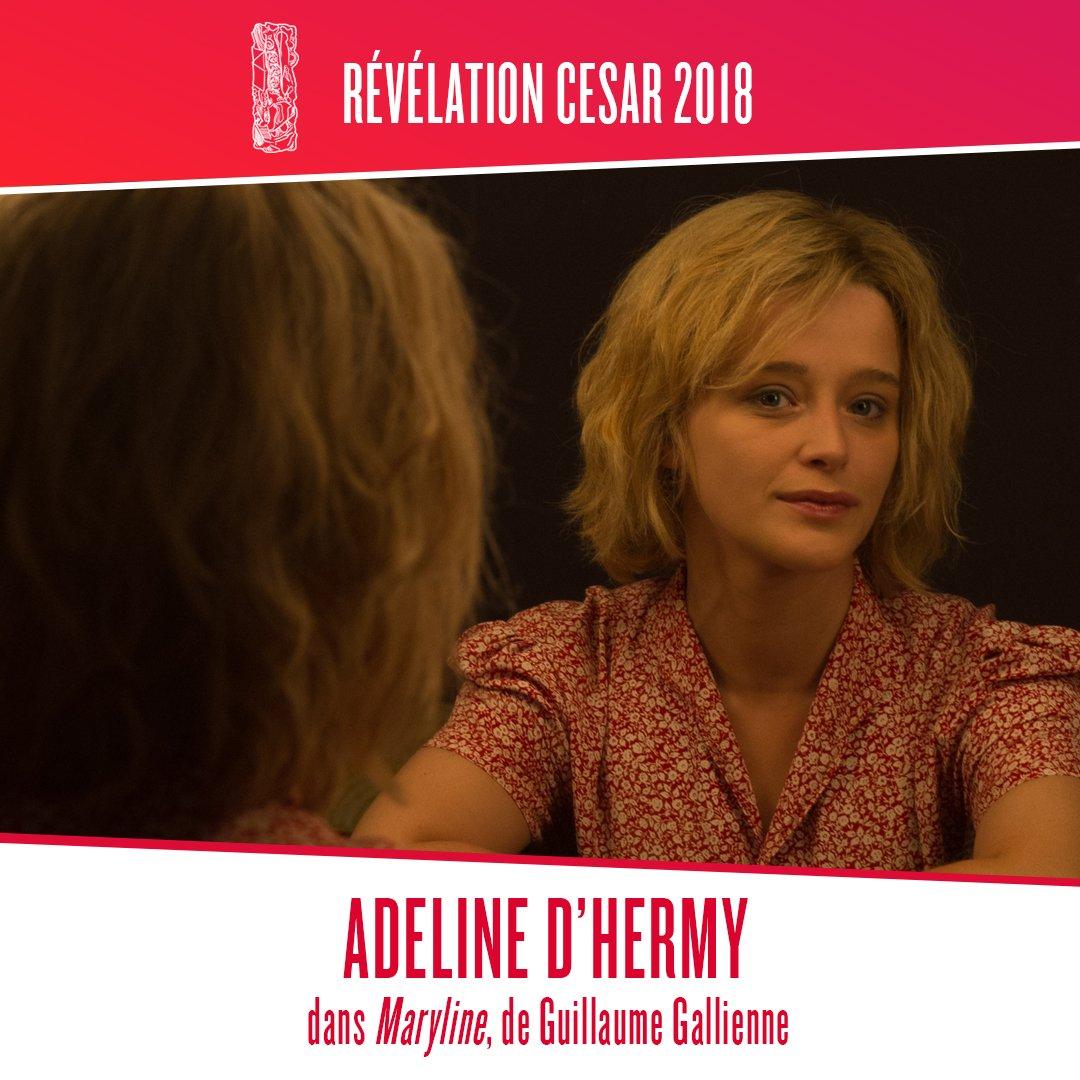 Félicitations à Adeline d'Hermy présélectionnée aux #César2018 dans la catégorie Meilleur Espoir Féminin pour #MarylineLeFilmpic.twitter.com/SE3fKkFqTB