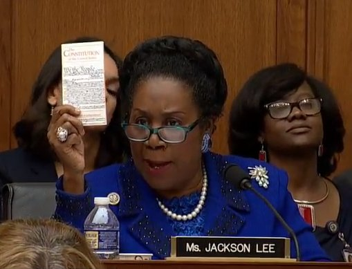 Rep. Sheila Jackson Lee does know that Americans are innocent until proven guilty, right?  #SessionsHearing #JeffSessions <br>http://pic.twitter.com/DjgrfFN7PD