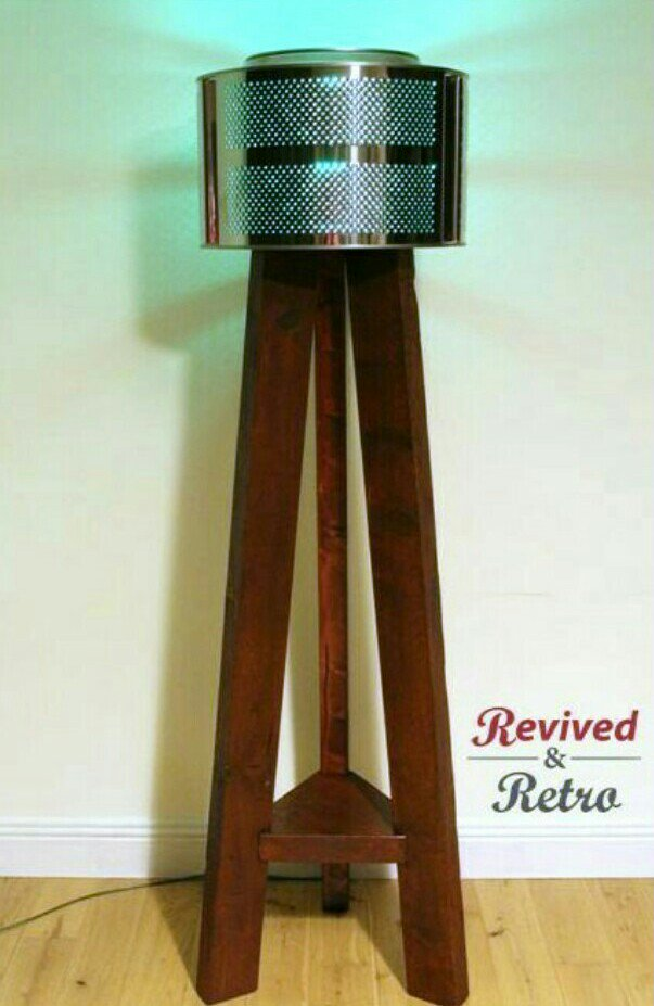 Our cool Tripod Light made from repurposed &amp; reused materials.  #Repurposed #Reuse #Upcycle #Design #Eco<br>http://pic.twitter.com/Y56ax3s7Tz
