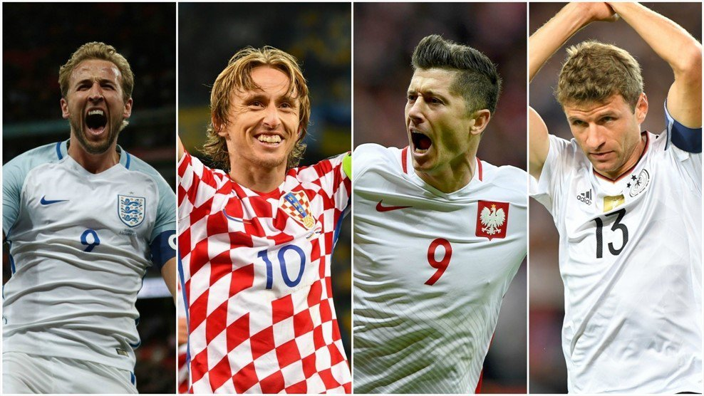 Europe's #WorldCup contenders 💪  Belgium 🇧🇪 Croatia 🇭🇷 Denmark 🇩🇰 England 🏴 France 🇫🇷 Germany 🇩🇪 Iceland 🇮🇸 Poland 🇵🇱 Portugal 🇵🇹 Russia 🇷🇺 Serbia 🇷🇸 Spain 🇪🇸 Sweden 🇸🇪 Switzerland 🇨🇭  👉 https://t.co/AMOuSa0a2s https://t.co/L2LY98qXdH