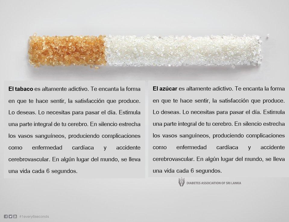 RT @SinAzucarOrg: 1 vida cada 6 segundo. #diamundialdeladiabetes https://t.co/gAqKWe2rZk