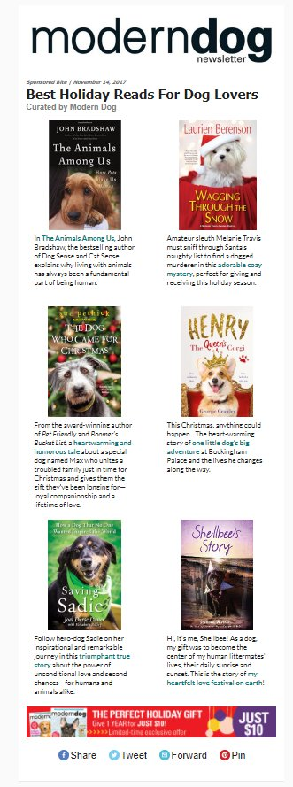 Modern Dog Magazine's Best Holiday Reads...