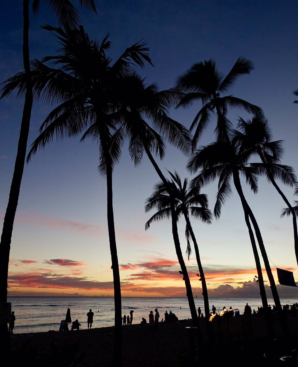 Jeremy Bower On Twitter Sunset At Waikiki Beach Honolulu