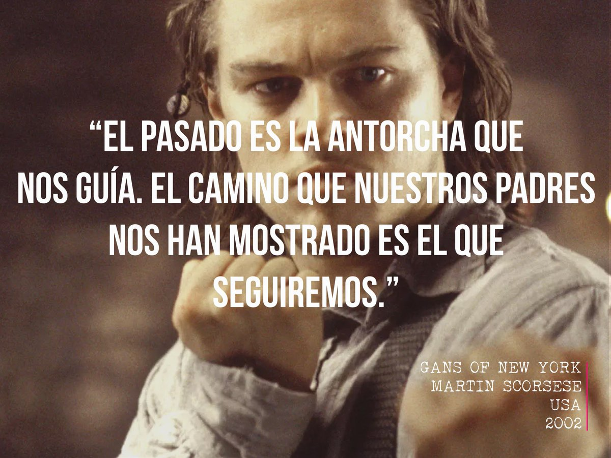 """Past is the torch that guide us. The path our parents have shown us is the one we will follow"" #FelizMartes #Cine @scorsesemartin #quotes #frases @20thCFoxSp @LeoDiCaprio @CameronDiaz #Cinema #films<br>http://pic.twitter.com/Icl4Jrv8Vt"