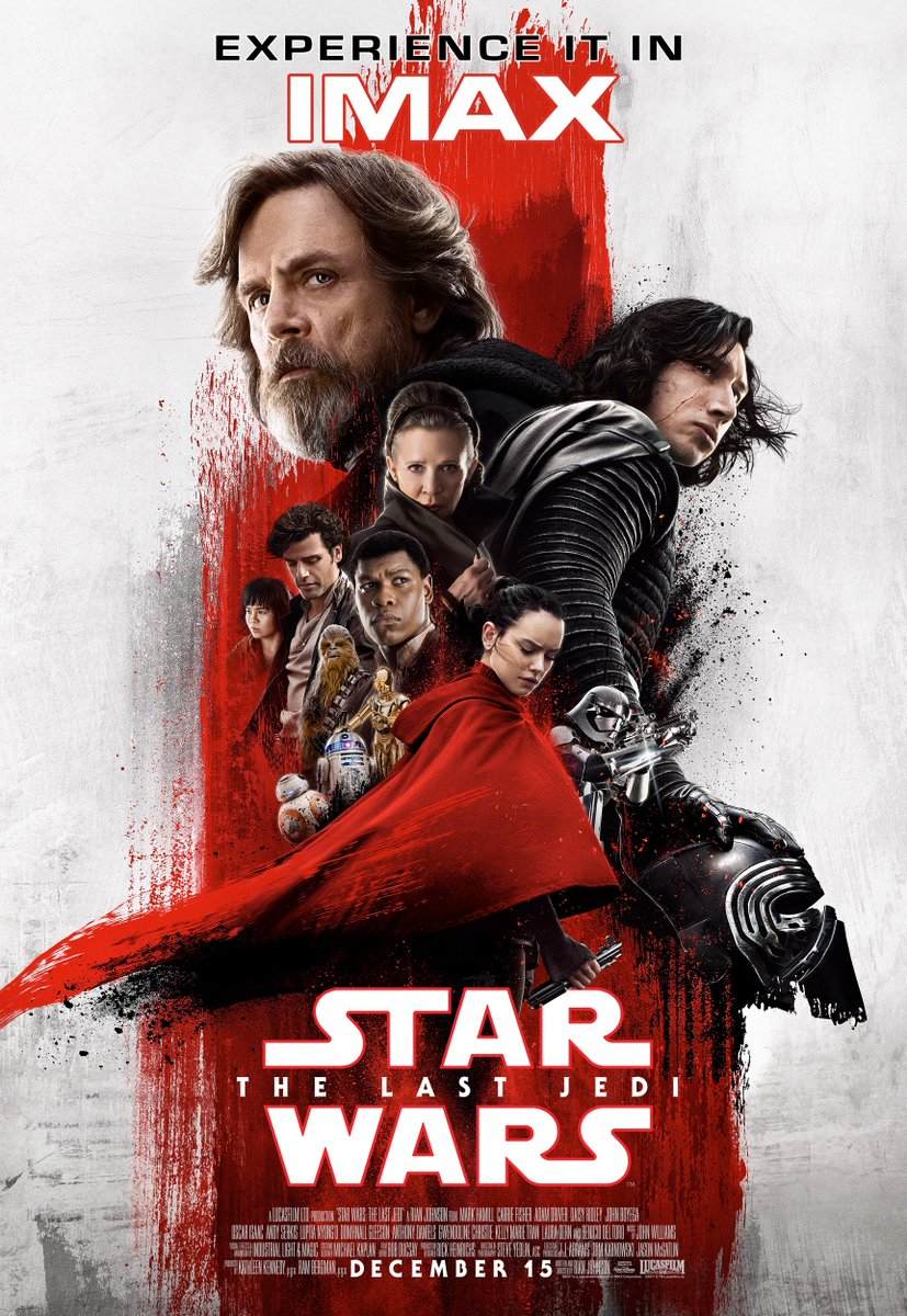 Star Wars: The Last Jedi IMAX Poster is Covered in Red