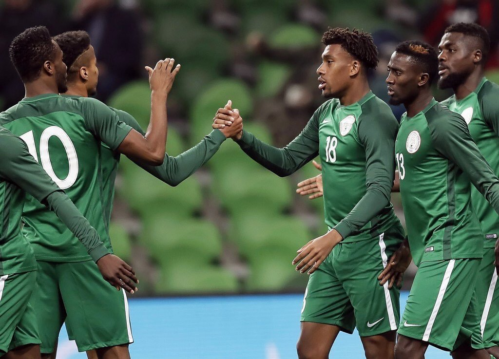 نهاية اللقاء ⚽️🔴 بفوز نيجيريا على الارجن...