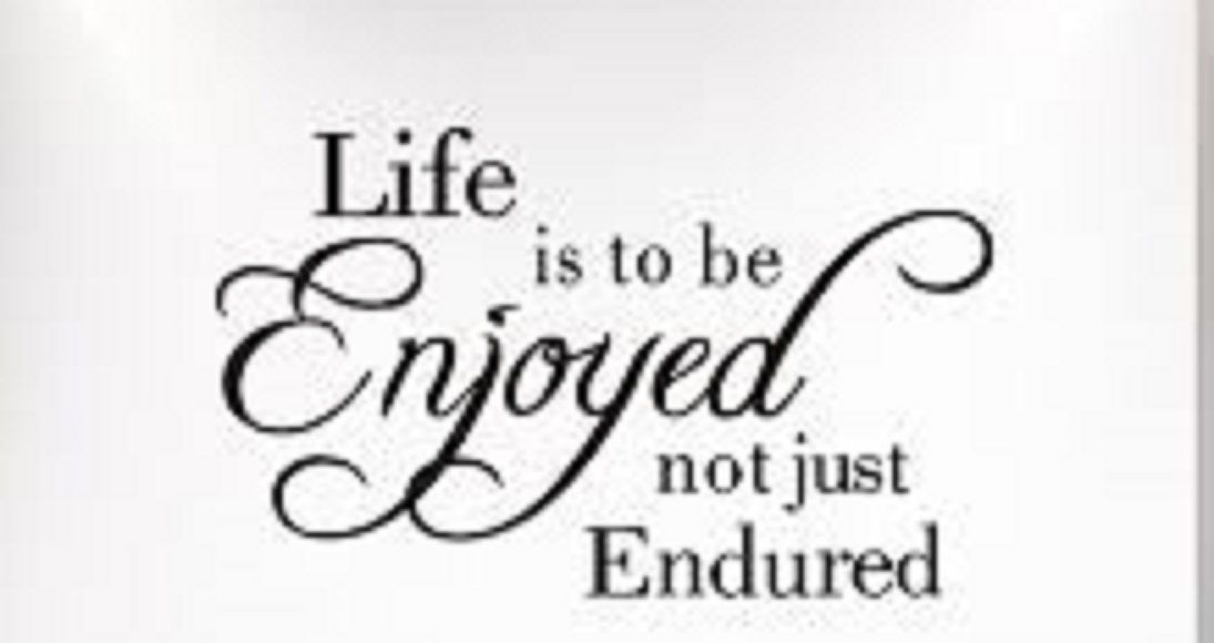 Life is to be enjoyed not just endured. #LiveOutLoud #HaveFun <br>http://pic.twitter.com/ZF7WXWfRlk