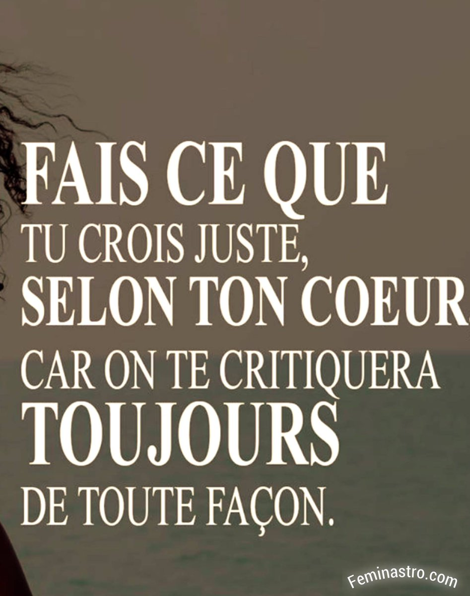 Selon ton #cœur ! #Feminastro #Citations #Lavie<br>http://pic.twitter.com/iG9hvHSdLb
