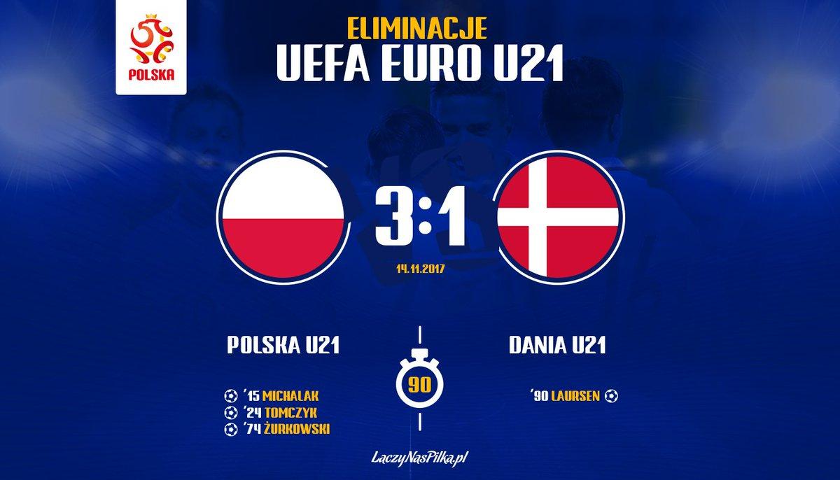 📌KONIEC📌 Dobra robota! 🔥😎 Inkasujemy trzy punkty i do lidera - Duńczyków tracimy jedno oczko. 👍 #POLDEN 3:1 #U21EURO https://t.co/wYwJGKfedl