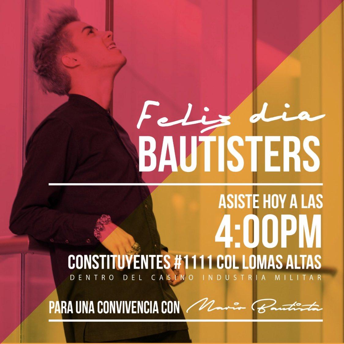 Para todas mis #Bautisters de CDMX   NOS...