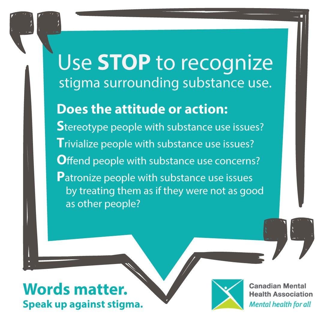 Cmha Ontario On Twitter Use Stop To Recognize Stigma Around