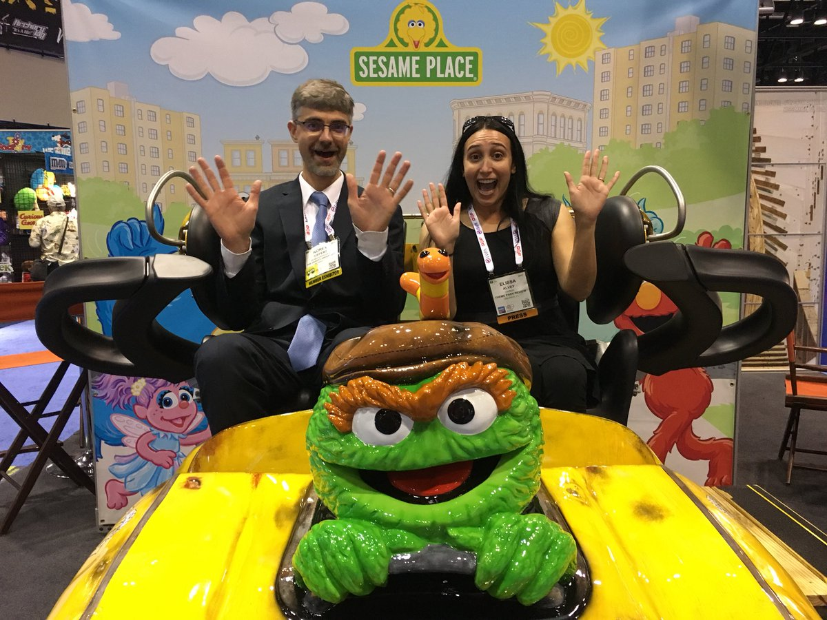 Taking a closer look at Oscar's Wacky Taxi by Gravity Group. So adorable! I want Slimy the worm! @IAAPAHQ #IAE17 <br>http://pic.twitter.com/sxxo51IyCj
