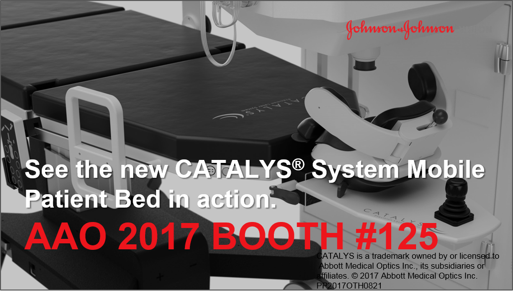 New CATALYS® System Mobile Patient Bed now available for #cataract procedure #AAO2017 @aao_ophth<br>http://pic.twitter.com/2e8Ki4MdY7