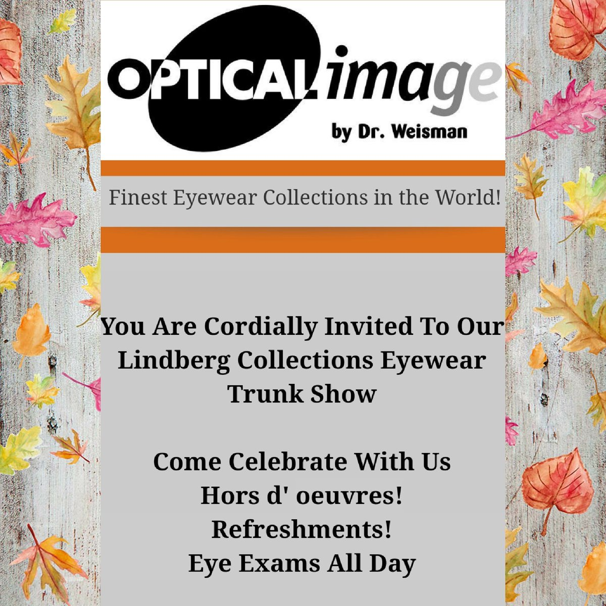 Open your eyes and ears and prepare for our #Lindberg trunk show!  #tucson #eyeexams #eyewear #fashionl #trunkshow<br>http://pic.twitter.com/MPppnSs3NC