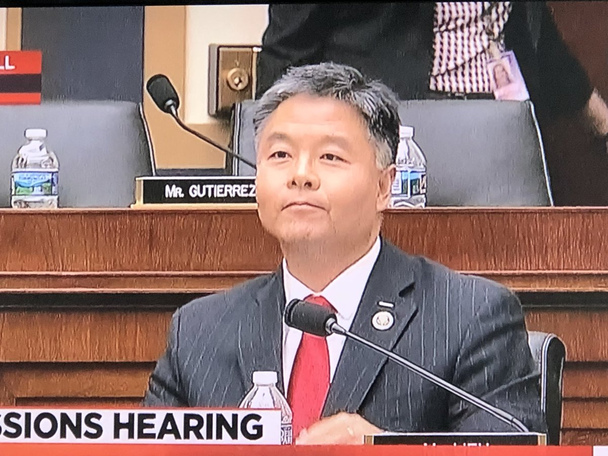 This, ladies and gentleman, is the expression of a man who has just finished catching the 3rd most powerful man in the country lying under oath. It's barely perceptible but that's a @tedlieu grin.  #toast #SessionsHearing <br>http://pic.twitter.com/WipT3vvsy3