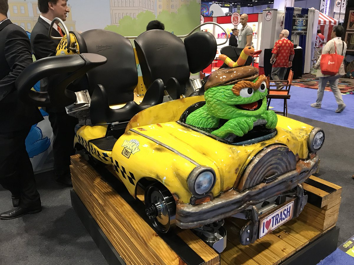 Check out this AWESOME lead car for the all new coaster coming to @SesamePlace in 2018! @IAAPAHQ #IAE17 <br>http://pic.twitter.com/la0f7Cfrex