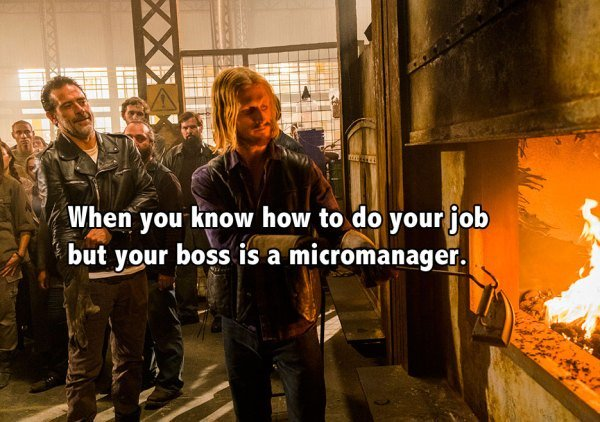 #ItsTimeToQuitYourJob when you have an overbearing boss. #TWD #TWDFamily https://t.co/gBKrhCk3Eb