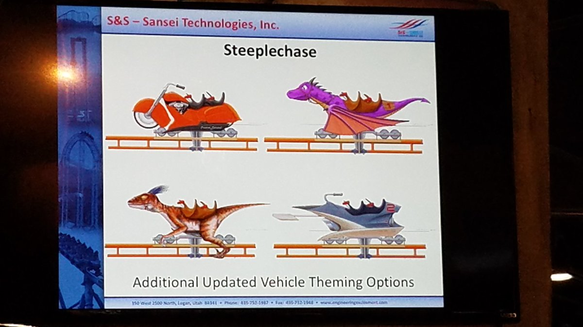 The S&S Steeplechase coaster is back