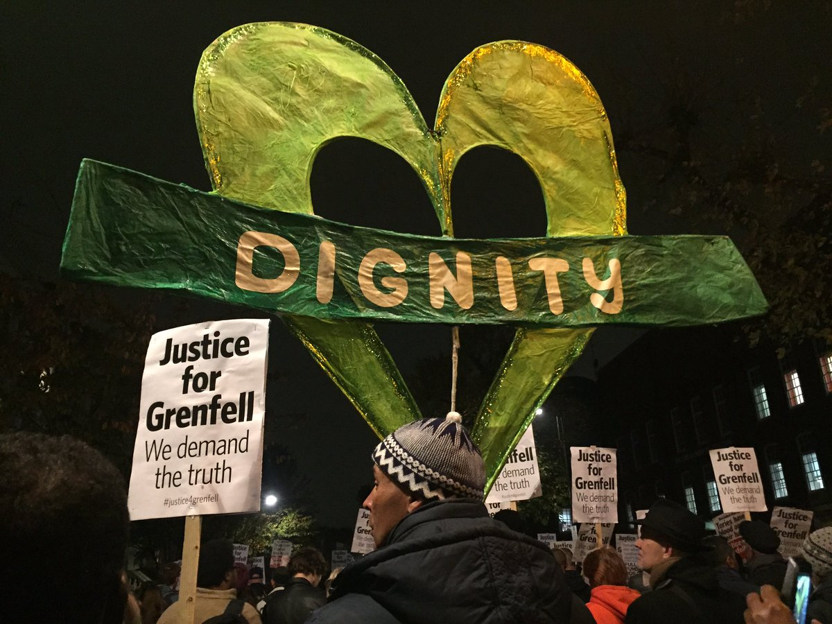 There is power in standing together as one.   #GrenfellTower  #Justice4Grenfell <br>http://pic.twitter.com/WbJzQepBbq