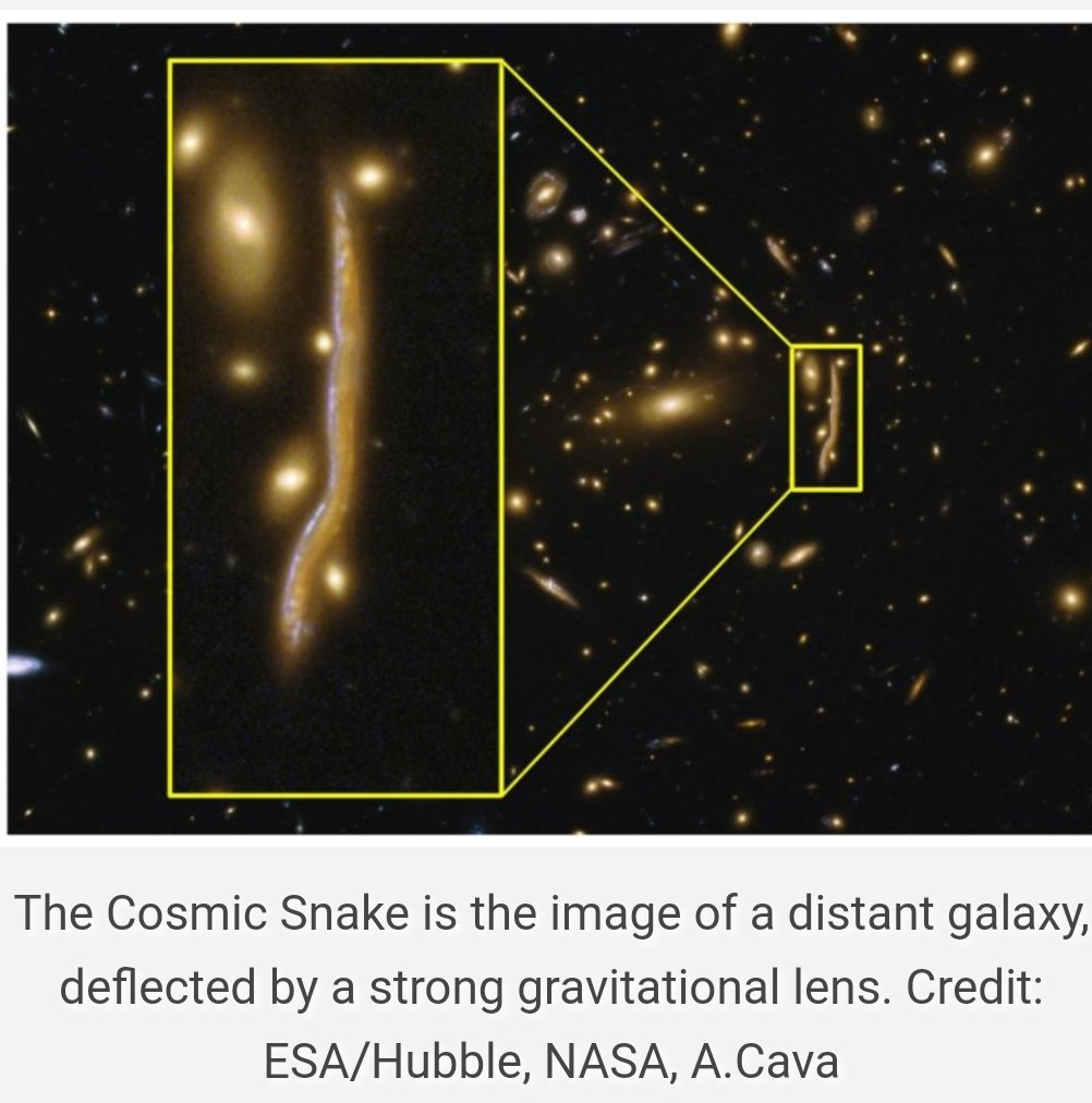 Anatomy of a #Cosmic #Snake reveals #Structure of Distant #Galaxies ~Astronomers have studied the image of a distant galaxy, 6B light-yrs away from us, warped and stretched by strong gravitational lensing  http:// infowebbie.com/scienceupdate/ anatomy-cosmic-snake-reveals-structure-distant-galaxies/ &nbsp; … <br>http://pic.twitter.com/g3RX3zhwfa