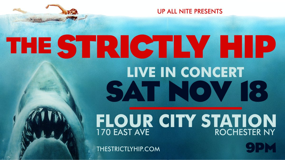 Hey #Rochester!  @TheStrictlyHip is LIVE at @FlourCityLive on Saturday Nov 18 at 9pm. Celebrate the incredible music of #TheHip! Ticket Link -  http:// bit.ly/hiproch  &nbsp;  <br>http://pic.twitter.com/1njPhEv0U0