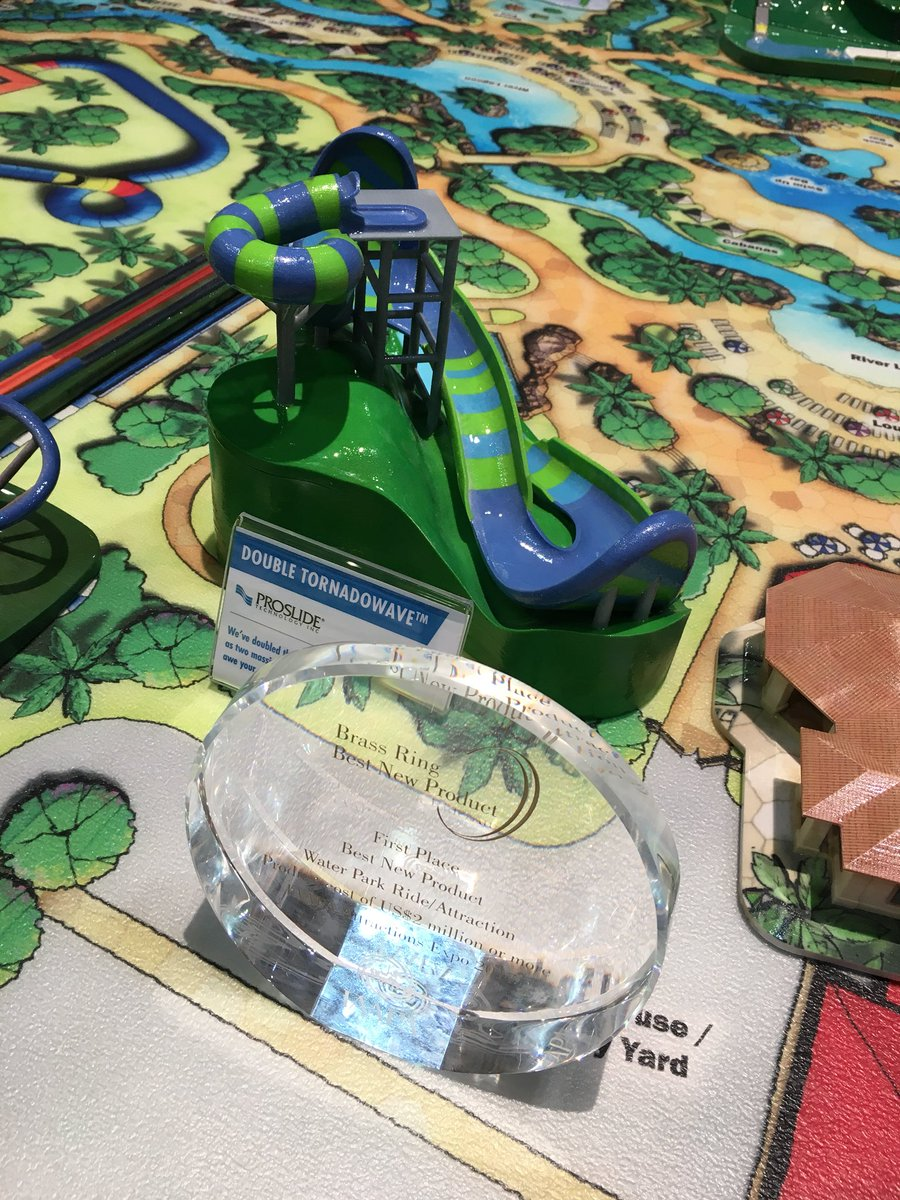 Water parks are a big part of @IAAPAHQ. @ProSlideTech won Best New Product for its Double Tornadowave slide. #IAE17 <br>http://pic.twitter.com/sdZ5zIsDWX