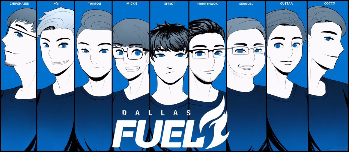 dallas fuel on twitter burnblue art credit seiun904