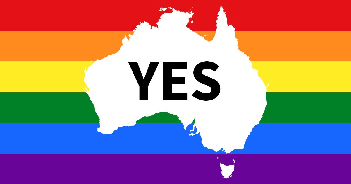 Australia has voted YES to same-sex marriage! Full coverage of the result to come. https://t.co/WiSwpLWDoq