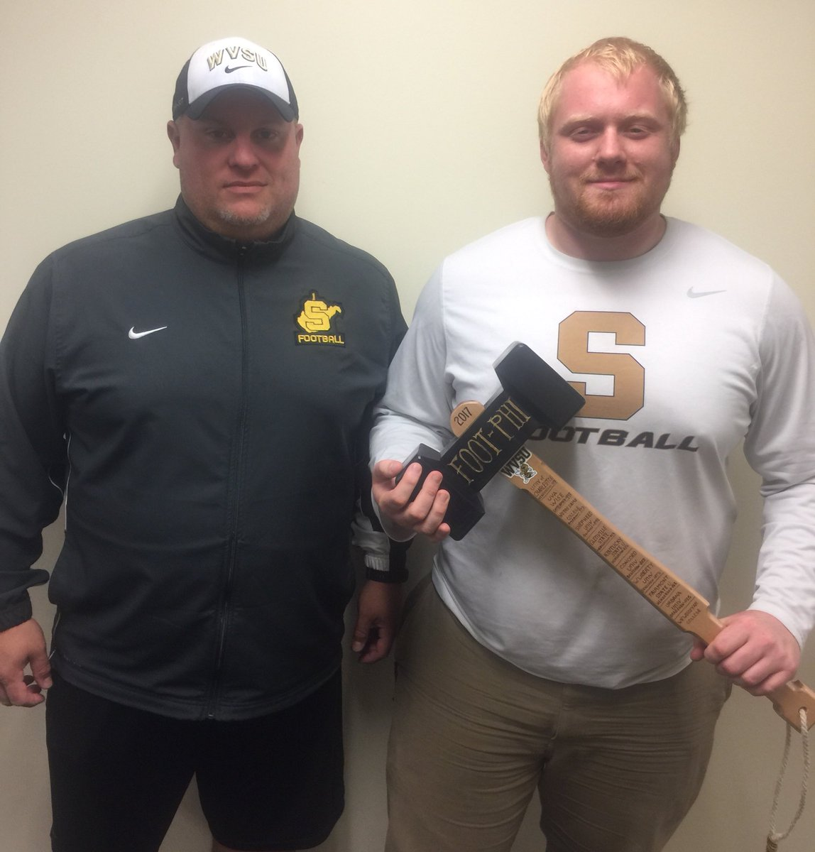 Congrats to Chase Henderson @Chasehenders0n Honorable Mention All-Mountain East Conference Left Guard!  #TCB #FOOT~PHI @WVStateFB<br>http://pic.twitter.com/zs7zNCBoUv