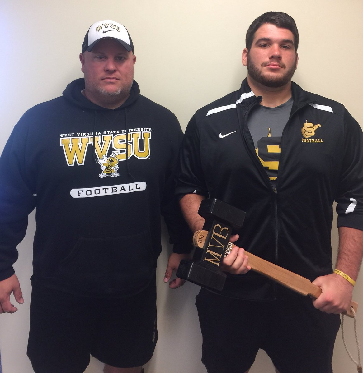Congrats to Devon Bradshaw @dbrad_72 for being selected First Team All-Mountain East Conference Center. #TCB #FOOT~PHI @WVStateFB<br>http://pic.twitter.com/tQA0giAplg