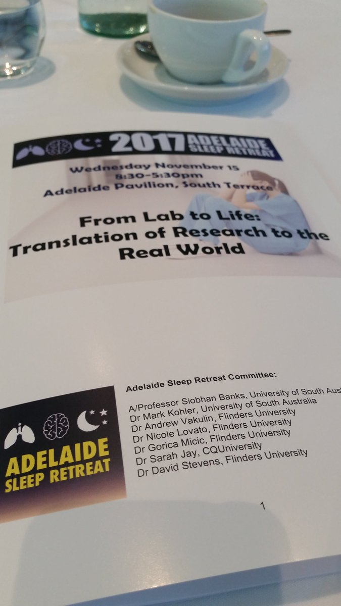 Enjoying #Adelaide #Sleep Retreat today! #ASR  @unisaresearch @unisasleeplab @BBBRC_ @SHFAustralia<br>http://pic.twitter.com/KZRtzRSiIV