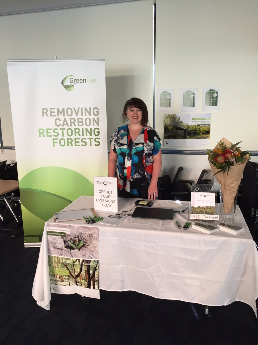 Our Monique is representing @GreenfleetAust at the Think Green Environment and Sustainability Event at @TheRMH  #sustainability #thinkgreen <br>http://pic.twitter.com/1cjK8uVB1k