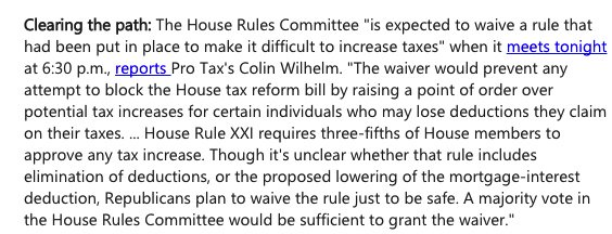 House Rs are ditching their rule making it hard to hike people's taxes, because they're about to hike people's taxes.