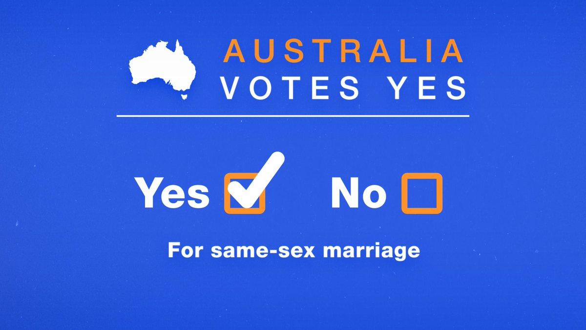 #BREAKING: Australia votes 'YES' in same-sex marriage postal survey #SSM2017 https://t.co/yc09nSH8GW