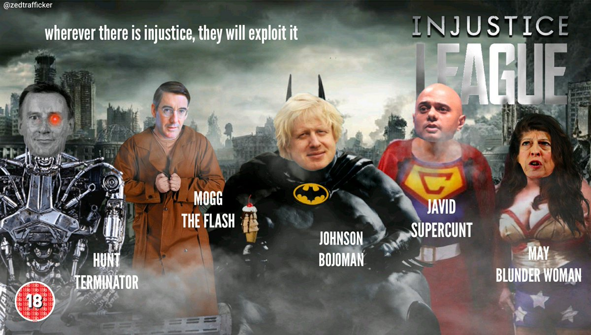Meet the Injustice League #ToriesOut #JusticeLeague  #JUSTICE4Grenfell #NHS #BorisJohnson <br>http://pic.twitter.com/xtoPzIVvfu