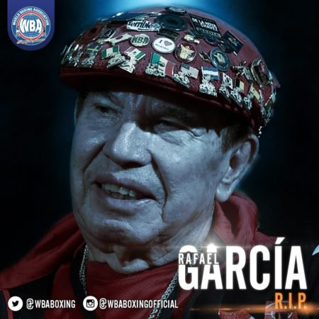 Rest well, great boxing personality, my friend for long time, cutman par excellence Rafael Garcia #boxing #Mayweather pic.twitter.com/tpc2nnyogs