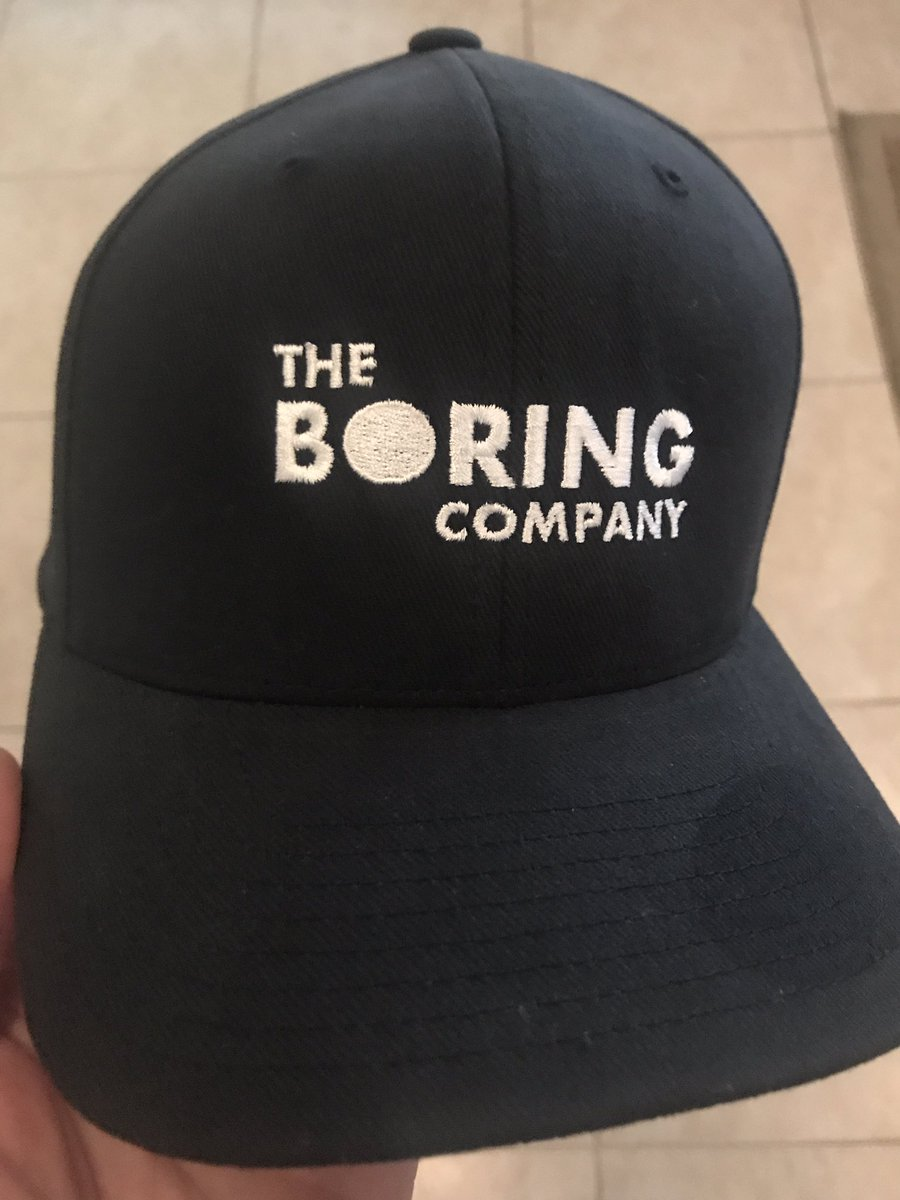 Got my @TheBoringComp hat today! These tunnels can't come soon enough. Thank you @elonmusk for tunnels. Gotta love them tunnels. Also: check out https://t.co/D5i6sJ7Xs2 if you want one! Fits perfect