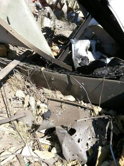 Saudi jets bombed the Navigational guidance devices &quot;VOR-DOM&quot; in Sana&#39;a airport. Aiming to stop the flights of the UN and the humanitarian organizations to Sanaa #GenocideinYemenbySaudi  #UN  #SOS  #Yemen  #زد_رصيدك43 <br>http://pic.twitter.com/XM0P0DrhX6