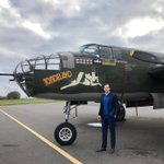 As an aviation fan, it was awesome to see this B-25 on the tarmac in Charlotte tonight! Hard to believe they flew these off of an aircraft carrier in the Pacific!  #DoolittleRaid #Warbird #WWII #ArmyNavy 🇺🇸🇺🇸🇺🇸