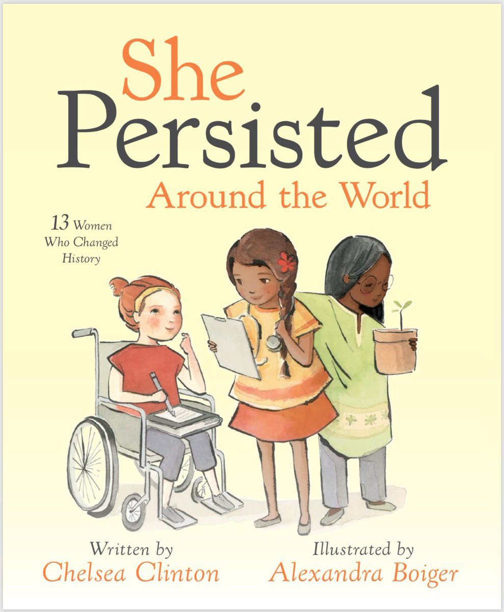 Thrilled to announce She Persisted Around the World, a picture book celebrating 13 incredible women who overcame adversity to change our world for the better. Coming out March 6, 2018!