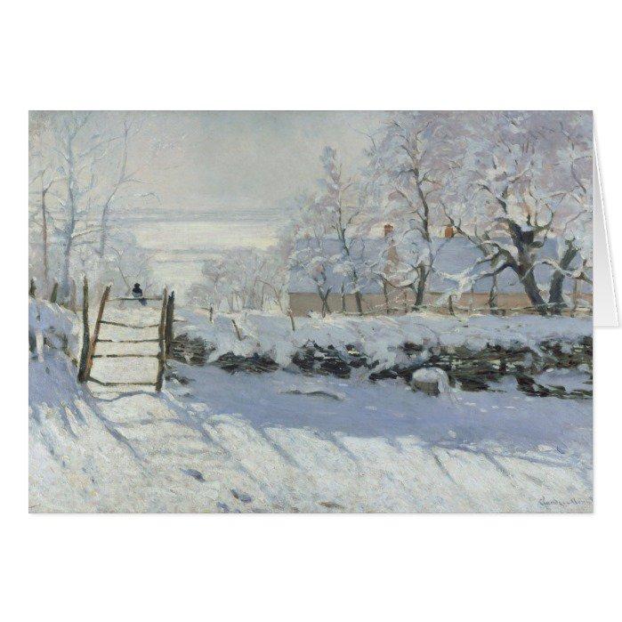 The Magpie Claude #Monet Greeting #Cards   https://www. zazzle.com/z/3eea6?rf=238 581041916875857 &nbsp; …   #greetingcards #art<br>http://pic.twitter.com/vTGtpi7m9u