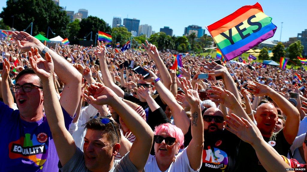 Australia has spoken. 👭🏳️🌈👬🇦🇺  https://t.co/JSdtizG8hk  #AustraliaSaysYes #MarriageEquality