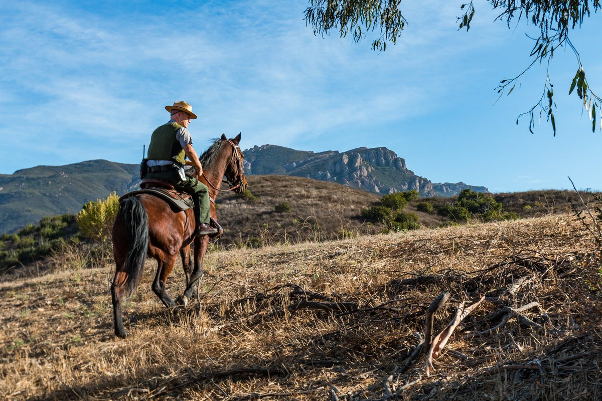 Santa Monica Mtns On Twitter Our Chief Ranger Riding Nps Patrol