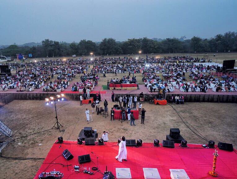 An evening of music, meditation & interaction at the Jawaharlal Nehru University, New Delhi.