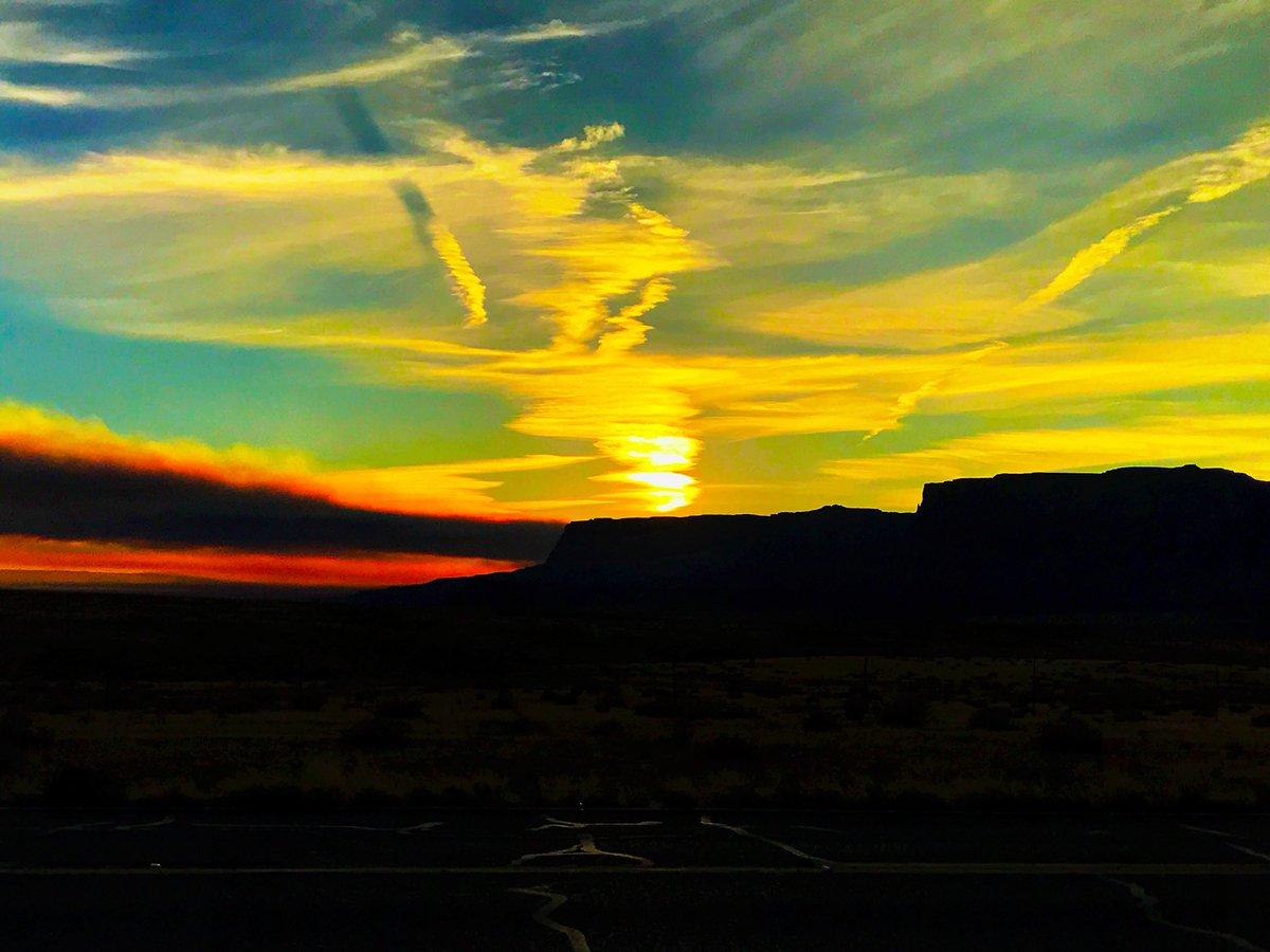 Tonight's sunset at Navajo Bridge. #azwx