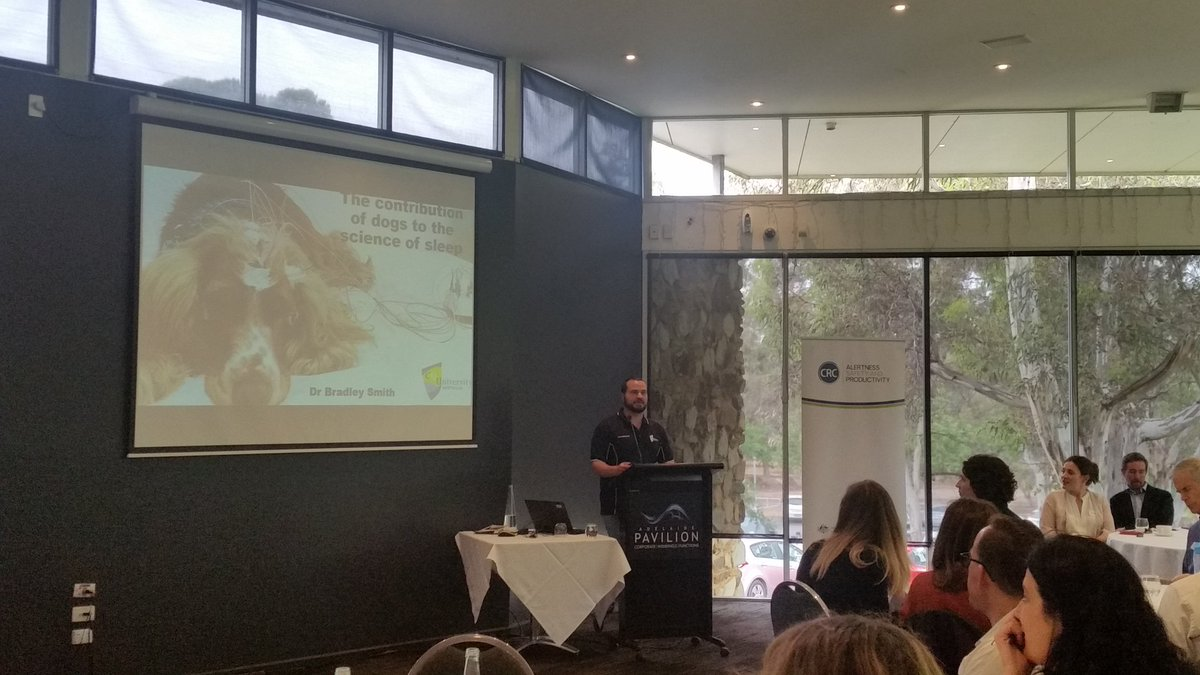 Really interesting talk about the history of sleep research using dogs! @howlingdingo @CQUni_Appleton #ASR <br>http://pic.twitter.com/xjLdzUKbu7